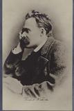 Friedrich Nietzche (1844-1900), German Philosopher and Writer Papier Photo