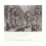 Egyptian Hall at the Mansion House During the Wilson Banquet Giclee Print by Thomas Hosmer Shepherd