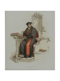 Doctor in Divinity, Engraved by J. Agar, Published in R. Ackermann's 'History of Oxford', 1814 Giclee Print by Thomas Uwins