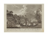 Captain Cook Landing at Tanna Giclee Print by William Hodges