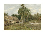 Saint-Cenery, the Mill, C.1890-92 Giclee Print by Eugene Louis Boudin