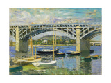 Bridge over the River at Argenteuil, 1874 Giclee Print by Claude Monet