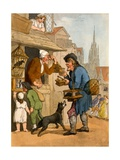 The Rat Trap Seller from 'Cries of London', 1799 Giclee Print by Thomas Rowlandson