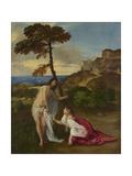 Noli Me Tangere, C.1512 Giclée-tryk af Titian (Tiziano Vecelli)
