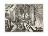 Think, Illustration from 'Emblemata of Zinne-Werk' by Johannes De Brune (1589-1658), Jan Jacobs… Giclée-Druck von Adriaen Pietersz van de Venne