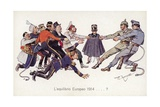 Ww1 Allies Playing Tug of War with Central Powers Giclee Print by Theodore Zasche