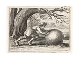 Honour and Virtue, Illustration from 'Emblemata of Zinne-Werk' by Johannes De Brune (1589-1658),… Giclée-Druck von Adriaen Pietersz van de Venne