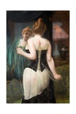 Young Woman Adjusting Her Corset, 1893 Giclee Print by Pierre Carrier-belleuse