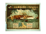 Hamburg to Helgoland Giclee Print by German School