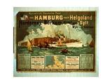 Hamburg to Helgoland Giclee Print by German School