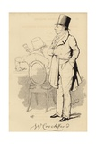 William Crockford, London Gambling Club Proprietor Wydruk giclee