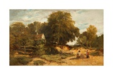 Wooded Landscape with Children, 1845 Giclee Print by William James Muller