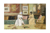 A Friendly Call, 1895 Giclee Print by William Merritt Chase