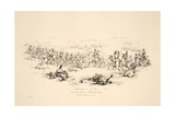 Waterloo 8Pm, Centre of the British Line, Pub J. Booth, 1816 Giclee Print by George Jones