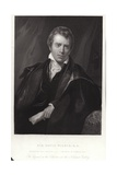 Sir David Wilkie, Scottish Painter. Engraving by Francis Holl Giclee Print by Thomas Phillips