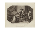 The Hospitable Reception of Charles II Giclee Print by Charles Benazech