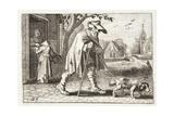 The Blind Man, Illustration from 'Emblemata of Zinne-Werk' by Johannes De Brune (1589-1658), Jan… Giclée-Druck von Adriaen Pietersz van de Venne