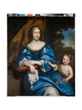 Portrait of a Lady with Her Child, C.1660 Giclee Print by Pierre Mignard