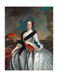 Maria Josepha, Queen of Poland and Electress of Saxony, 1743 Giclee Print by Louis de Silvestre