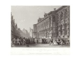 Town Hall with Insurrection of the People Against Charles V Giclee Print by Thomas Allom