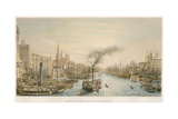 The Pool, from London Bridge, Morning Giclee Print by William Parrott