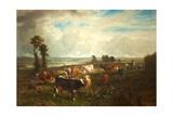 Landscape, Les Hauteurs De Suresnes, 1856 Giclee Print by Constant-emile Troyon