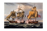 Capture of Castor, Print Made by Thomas Sutherland, from 'The Naval Achievements of Great… Giclee Print by Thomas Whitcombe