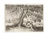 Shelter, Illustration from 'Emblemata of Zinne-Werk' by Johannes De Brune (1589-1658), Jan Jacobs… Giclée-Druck von Adriaen Pietersz van de Venne