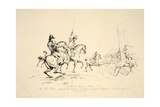 Battle of Quatre Bras: Sir Thomas Picton Ordering the Charge of Sir James Kempts Brigade, Pub. J.… Giclee Print by George Jones