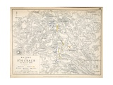 Map of the Battle of Stockach, Published by William Blackwood and Sons, Edinburgh and London, 1848 Giclee Print by Alexander Keith Johnston