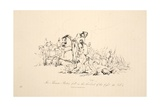 Sir Thomas Picton Fell in the Thickets of the Fight, Pub. J. Booth, 1816 Giclee Print by George Jones