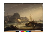 A Breezy Day on the Coast, 1822 Giclee Print by Robert Salmon