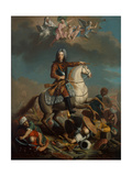 Prince Eugene of Savoy as the Conqueror of the Turks, C.1701-50 Giclee Print by German School