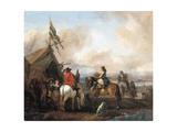 A Military Encampment with Cavaliers Giclee Print by Philips Wouwermans Or Wouwerman
