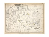 Map of the Battle of Marengo, Published by William Blackwood and Sons, Edinburgh and London, 1848 Giclee Print by Alexander Keith Johnston