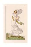 Chiffon Promenade Dress, 1812 Giclee Print by Pierre de La Mesangere