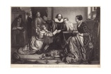 Shakespeare with His Family at Stratford on Avon, Reciting the Tragedy of Hamlet Giclee Print by Edouard Jean Conrad Hamman