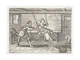 Faster and Slower, Illustration from 'Emblemata of Zinne-Werk' by Johannes De Brune (1589-1658),… Giclée-Druck von Adriaen Pietersz van de Venne