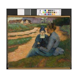 Woman and Child in Landscape, C.1892 Giclee Print by Armand Guillaumin