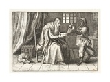 A Rich Man, Illustration from 'Emblemata of Zinne-Werk' by Johannes De Brune (1589-1658), Jan… Giclée-Druck von Adriaen Pietersz van de Venne