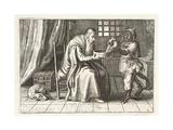 A Rich Man, Illustration from 'Emblemata of Zinne-Werk' by Johannes De Brune (1589-1658), Jan… Giclée-Druck von Adriaen Pietersz van de Venne