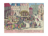 Execution in Bruges by Burning of Three Friars for Sodomy, 28 June, 1578 Giclee Print by Franz Hogenberg