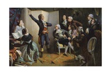 Claude Joseph Rouget De Lisle Singing La Marseillaise Giclee Print by Isidore Pils