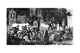 The Last Battle of the Paris Commune in the Cemetery of Pere Lachaise, Engraved by Louis Joseph… Giclée-Druck von Daniel Urrabieta Vierge