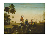 The Landing of Columbus, C.1837 Giclee Print by Edward Hicks