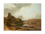 The Ferry Giclee Print by Jan Baptiste de Jonghe