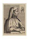 Filippo Brunelleschi, Italian Architect and Engineer Giclee Print by Nicolas II de Larmessin