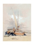 Boats at a Quayside, Lake Geneva, 1835 Giclee Print by James Holland