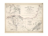 Map of Lower Egypt and Part of Syria, Published by William Blackwood and Sons, Edinburgh and… Giclee Print by Alexander Keith Johnston