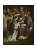 Study for the Sacrament of Ordination, before 1712 Giclée-tryk af Giuseppe Maria Crespi
